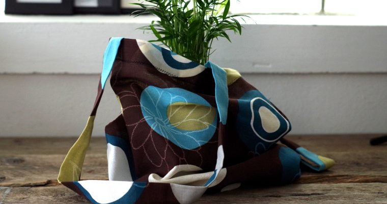 Helgpyssel – DIY shoppingpåse i tyg